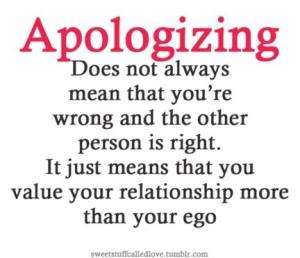 Relationship over ego