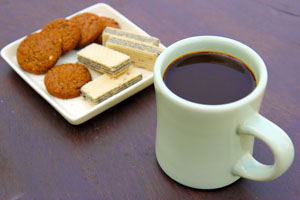 Coffee and snack for break